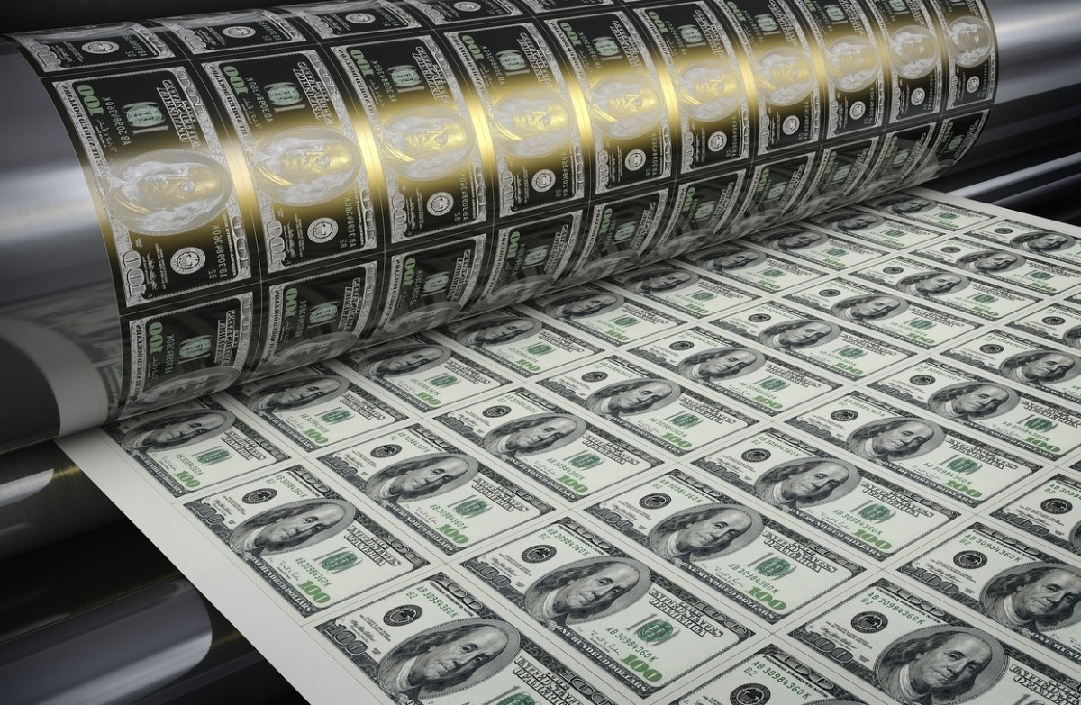 US Federal Reserve is printing dollars