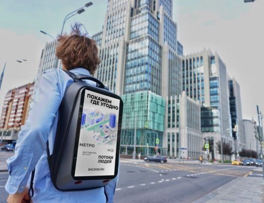 Advertising backpacks