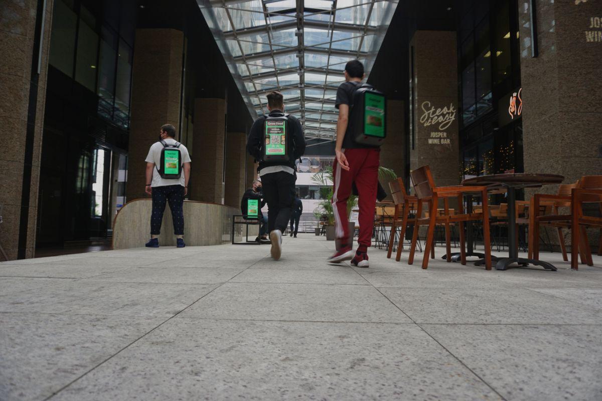 Advertising backpacks